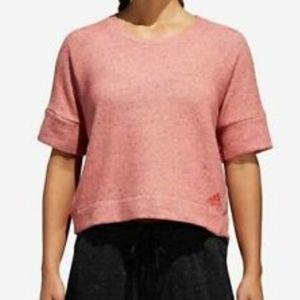 Adidas cropped sweatshirt size large